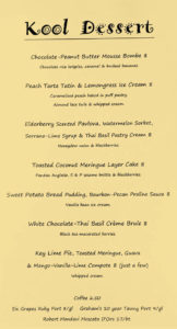kool beanz dessert menu 3