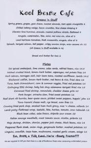kool beanz lunch menu 1